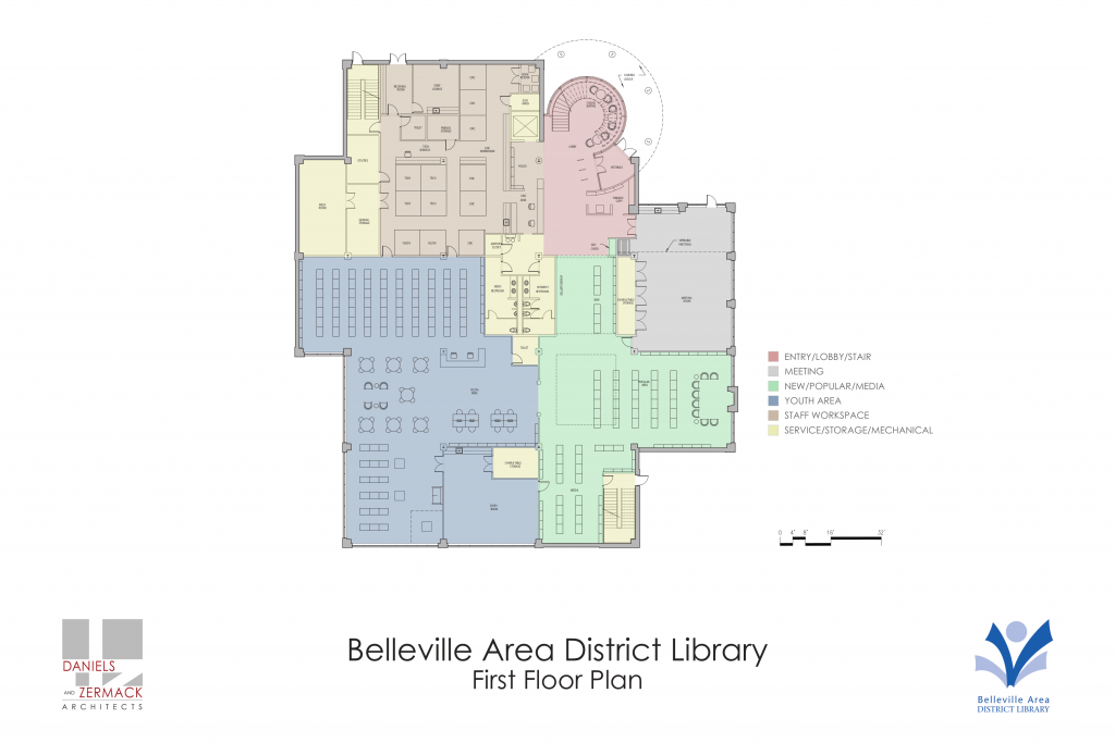 New library first floor plan