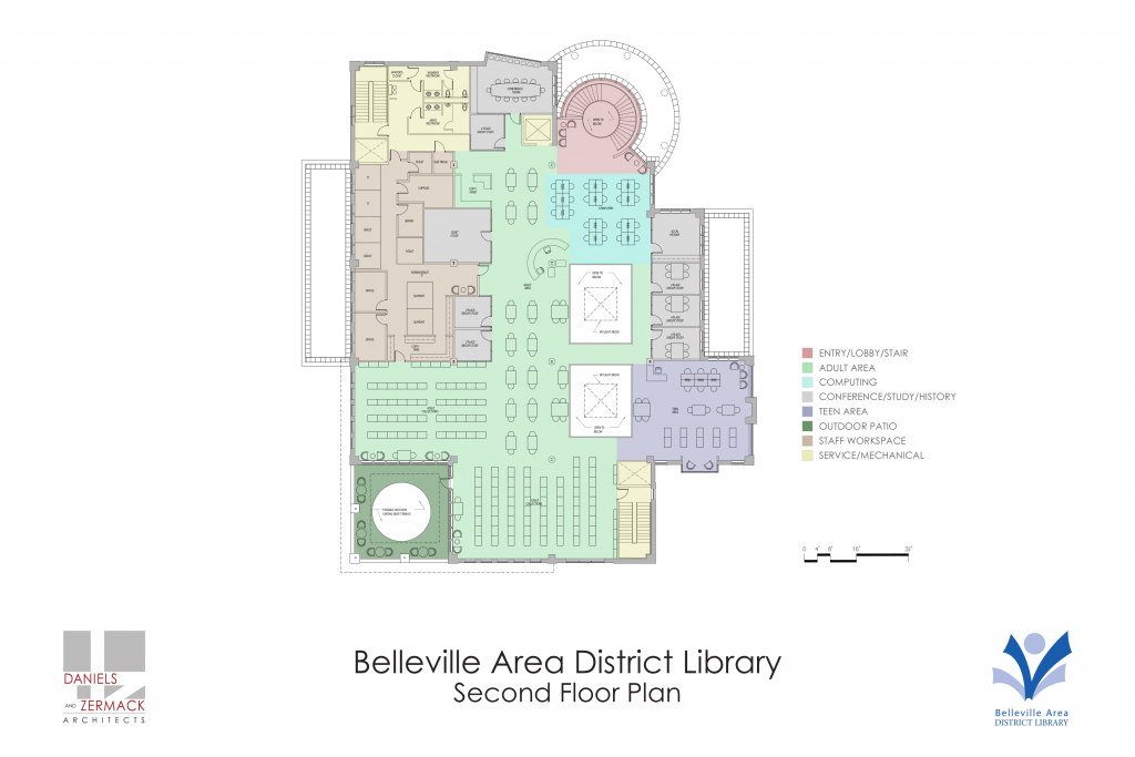 New library second floor plan