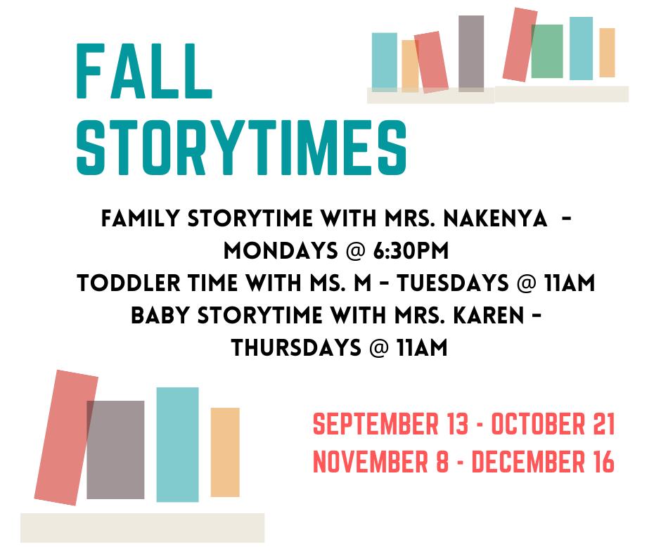 Fall Storytimes